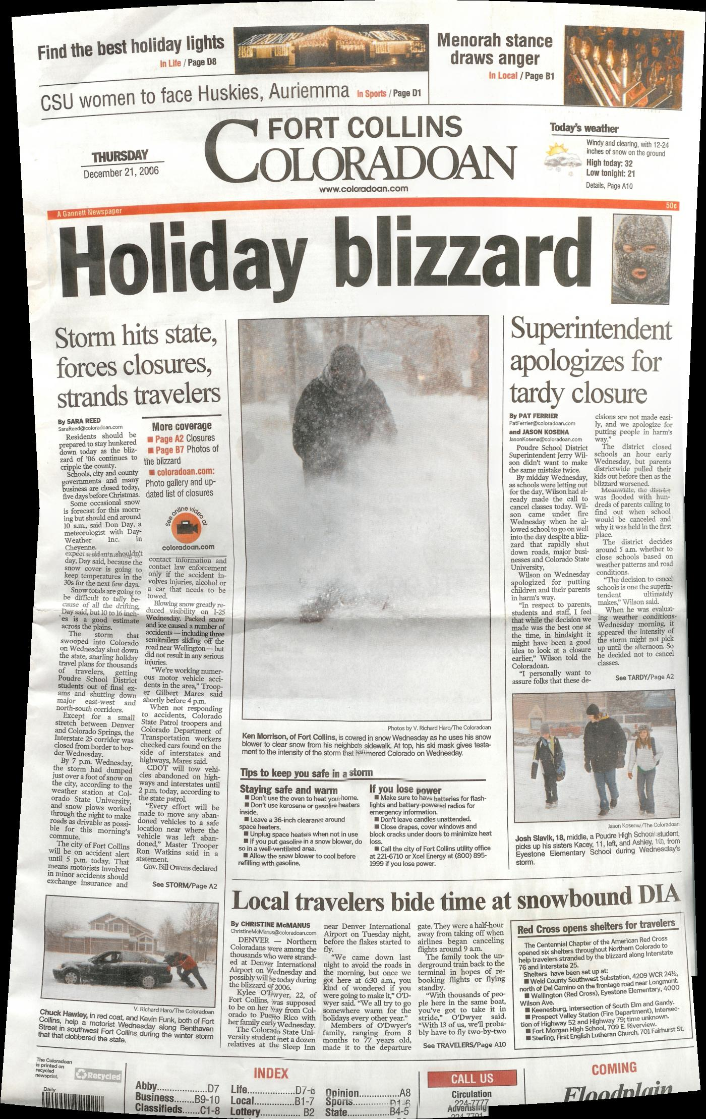 Fort Collins Blizzard of 2006